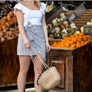 Dresses & Skirts - Wrap Stripe Skirt